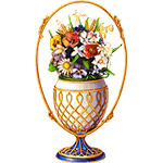 Faberge Egg «Bouquet of Flowers»